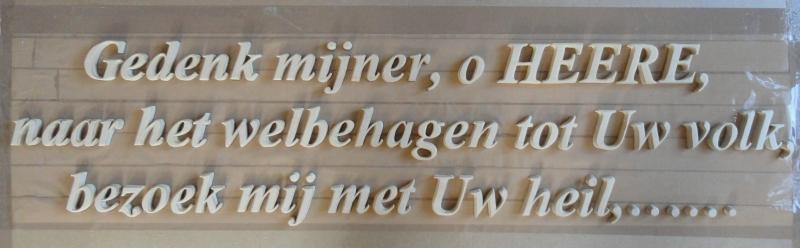 Tekst voor op de muur