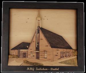 Kerk uitgesneden